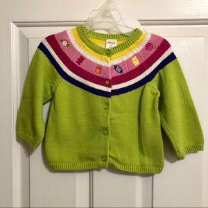 "EUC Gymboree ""Candy"" Sweater Sz 2T"